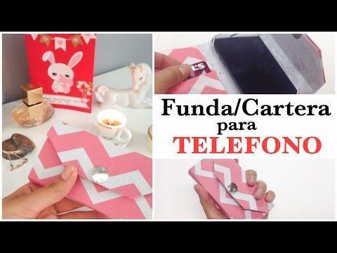 Como hacer una funda para el celular con carton DIYfunda para movil - YouTube