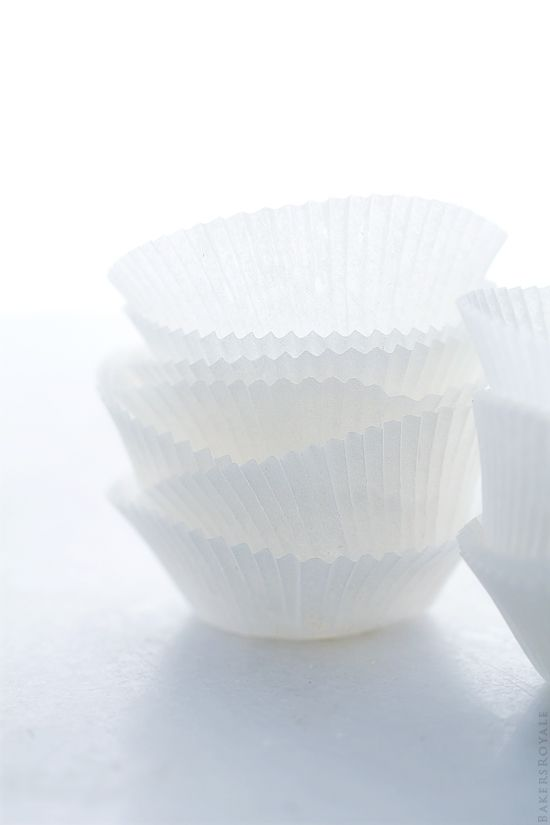 White Cupcake Liners via Bakers Royale