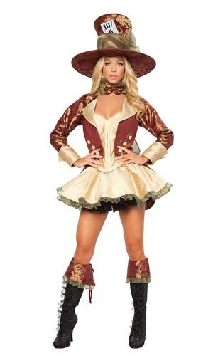 deluxe tea party hatter adult costume - Wholesale Halloween Costumes Phone Number