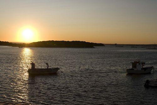 Il tramonto a Porto Cesareo, nel Salento