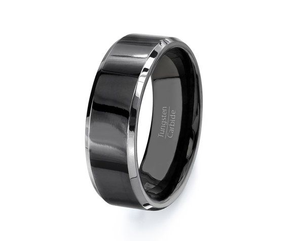 tungsten ring wedding band mens tungsten carbide by tungstenomega - Tungsten Mens Wedding Ring