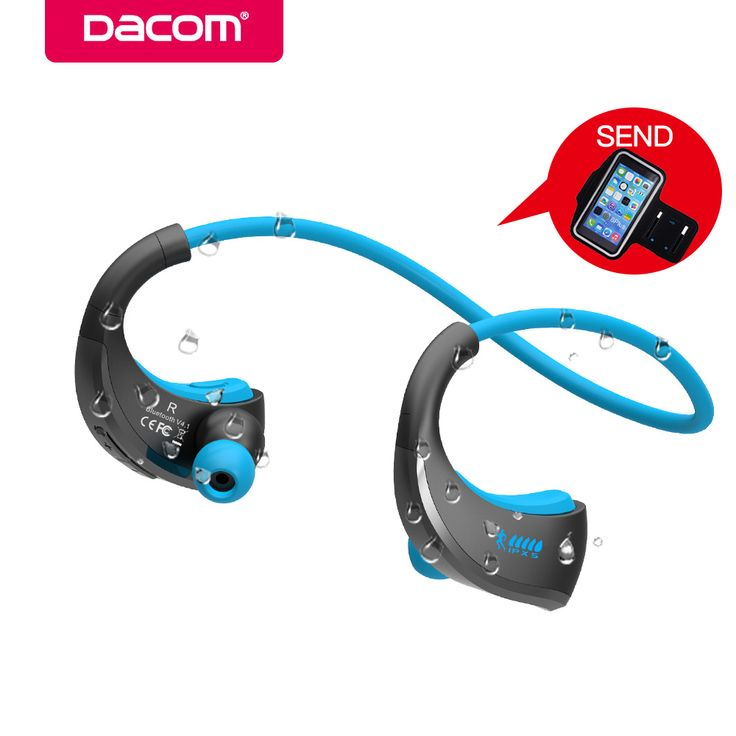 DACOM G06 Wireless Bluetooth Headphones Sports Neckband Earphone IPX5 Waterproof Stereo Headset Earbuds for iPhone 5 6 7 Samsung //Price: $51.50     #gadgets