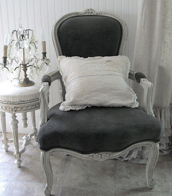 black and white - I have a pair of these chairs in work now, hmm, love the grayish black...hmmm