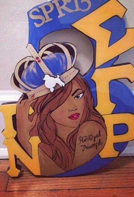Sigma Gamma Rho wall plaque (Luxo Luxo Designs)
