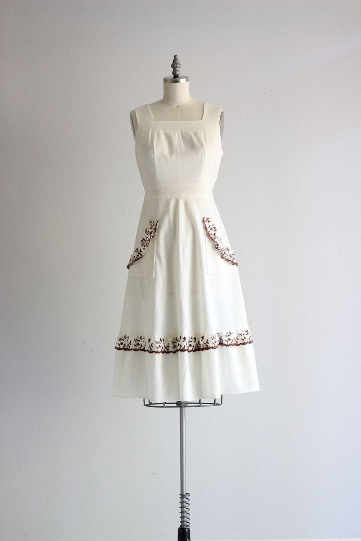 witte zomer jurk 50s katoenen jurk vintage linnen jurk met zakken, uit wit linnen mouwloos jurkje, banded taille met bijgevoegde stropdas rug