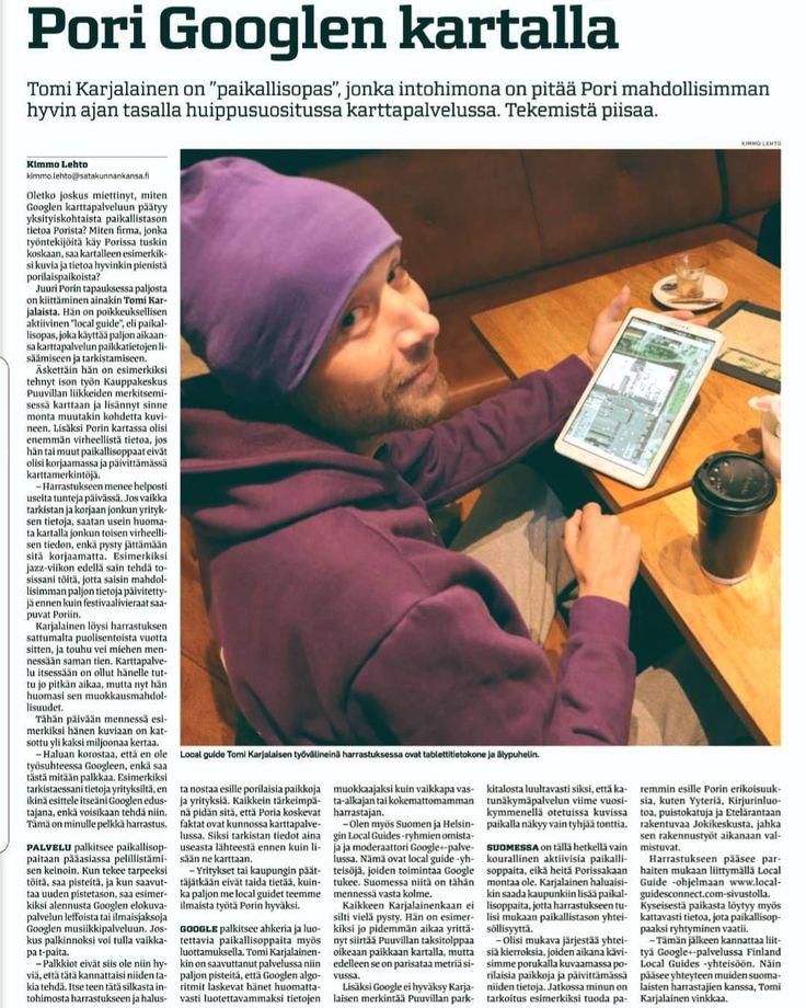 #localnewspaper @porilaine.fi #google #maps #localguide #ilovethiscity #porilaisii #purpleman #porinkansallinenkaupunkipuisto #visitpori #visitfinland