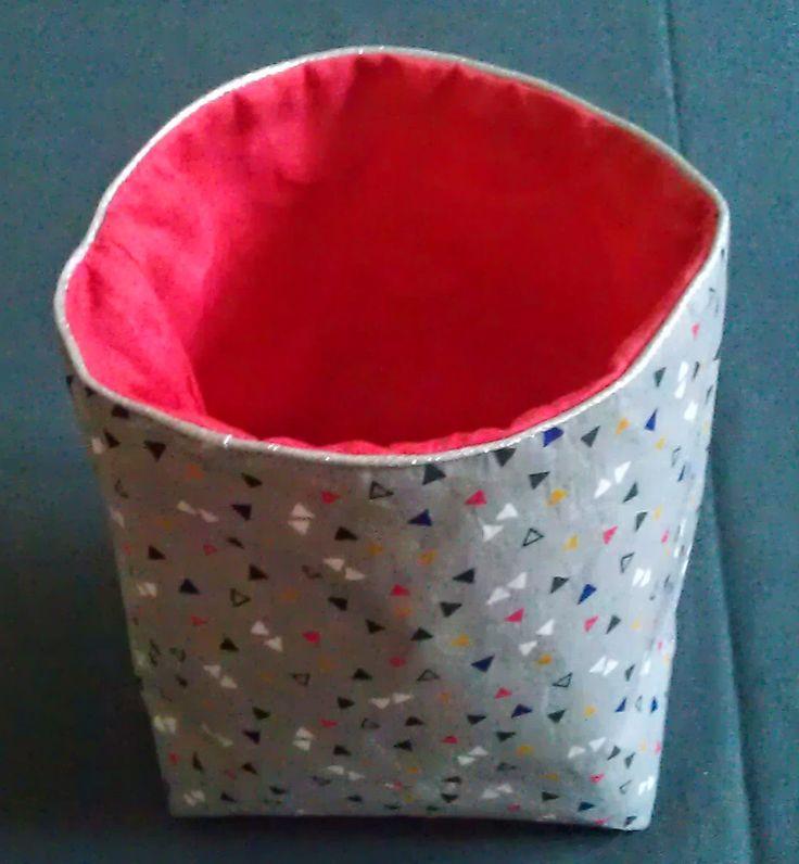 DIY : Petits paniers en tissu (Tuto) pour ranger tout un tas de petites choses ;)