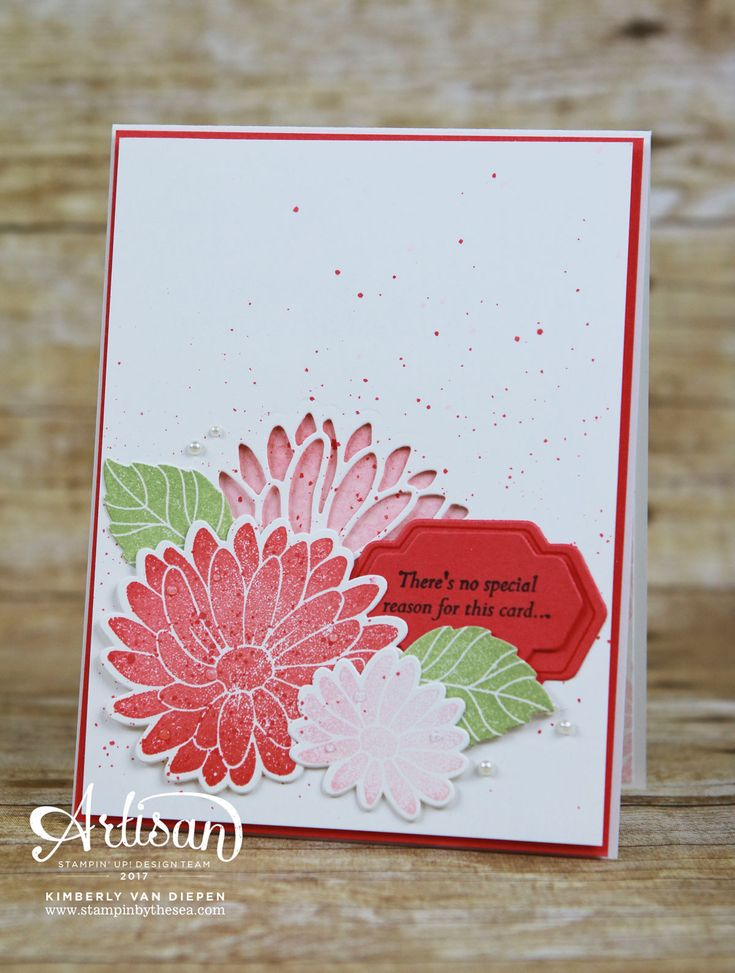 The Special Reason stamp set from Stampin' Up! is a stunning floral set with coordinating framelits. See how I created this card today.