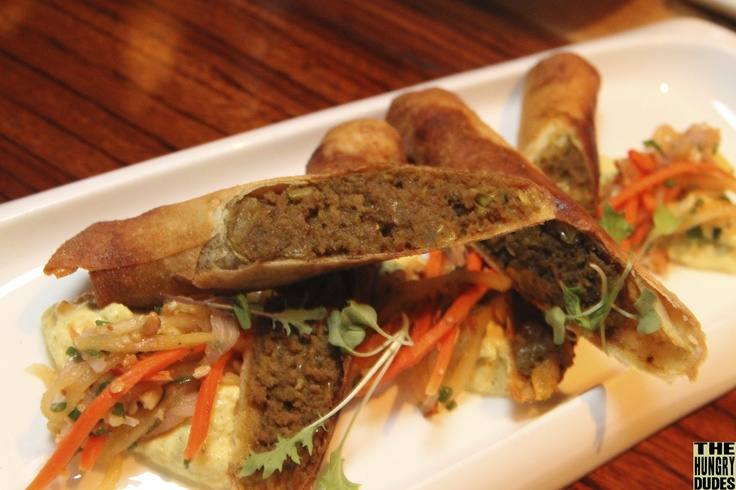 "Crispy Beef ""Bobotie"" Roll. South African cuisine at Jiko, Animal Kingdom. Like spring in my mouth. UMMM!"