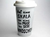 Dornröschen Coffee to go Becher Märchen Spruch