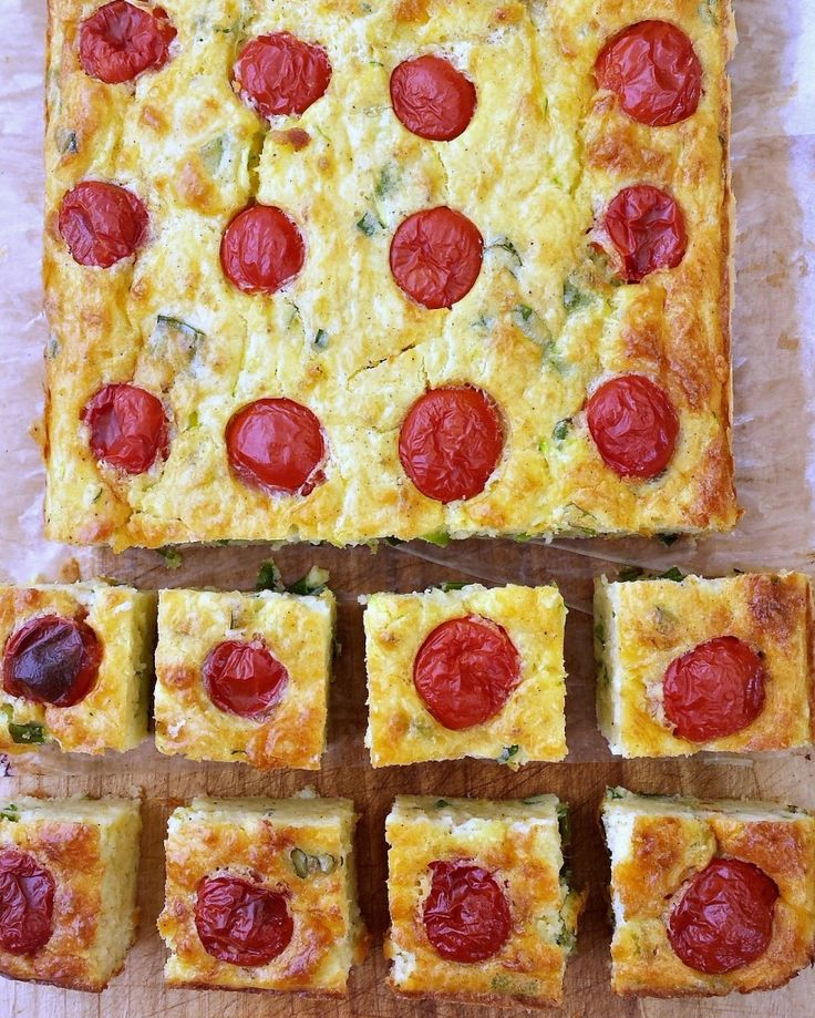 Cherry tomato, green onion and zucchini slice - Rosehips and Rhubarb