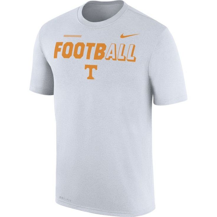 Nike Men's Tennessee Volunteers FootbALL Sideline Legend White T-Shirt, Size: Medium, Team