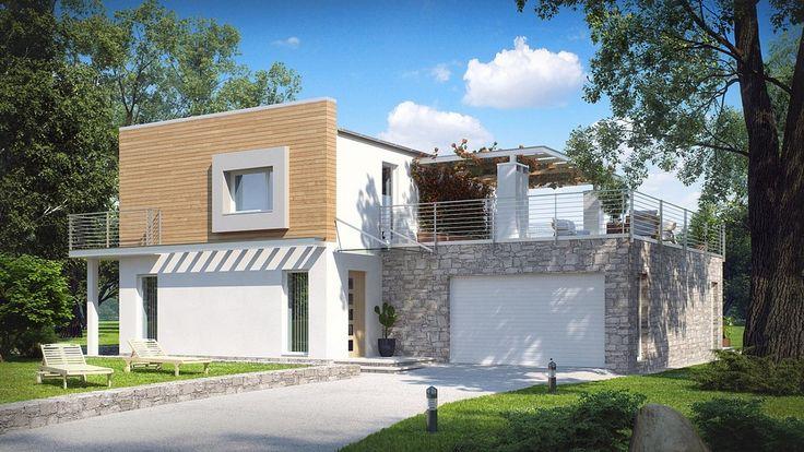 Projekt domu jest doskonałą propozycją dla wymagających inwestorów, poszukujących ponadczasowej stylistyki za rozsądne pieniądze
