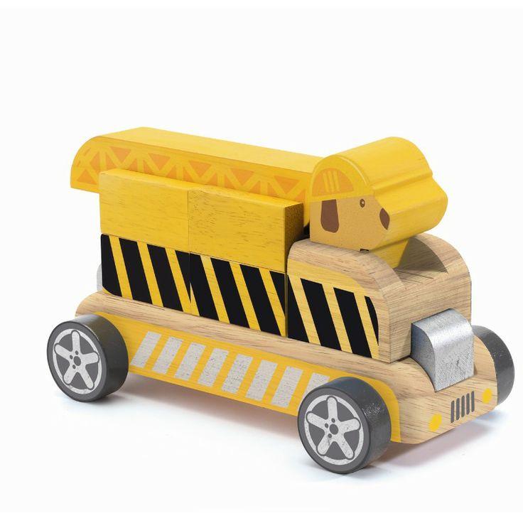 Drewniany składany samochód Djeco - Buldo