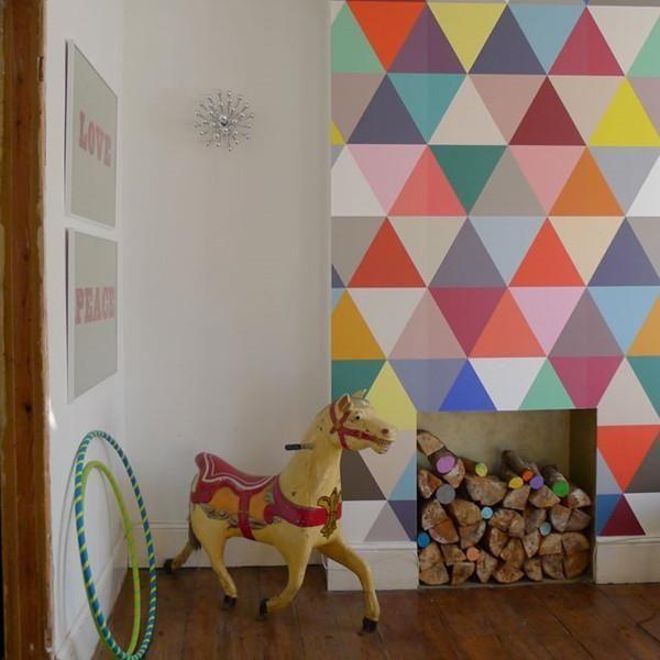 Geometric Wall Murals Kaleidoscope Harlequin Wallpaper WP153