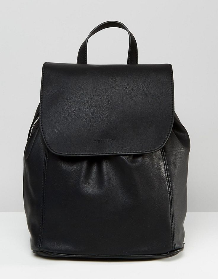 Image 1 of Pull&Bear Minimal Backpack with Side Zip Detail