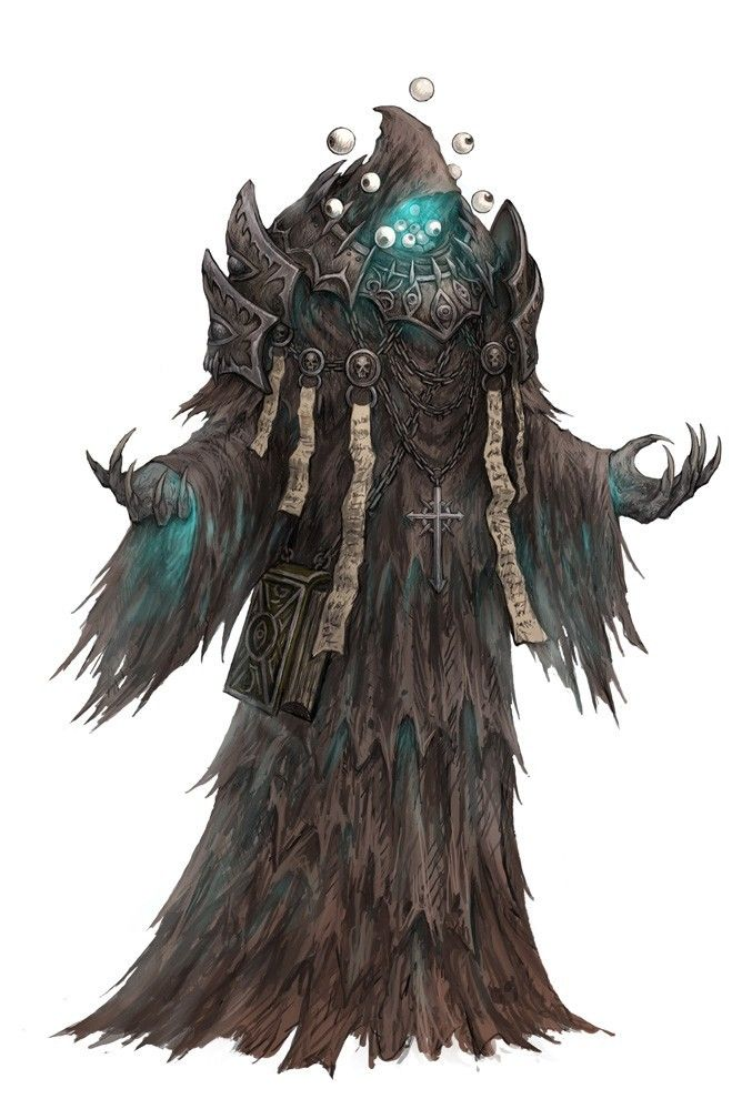 by fangyunxiao Deliciously creepy RPG wizard / necromancer / scary thing with eyeballs.