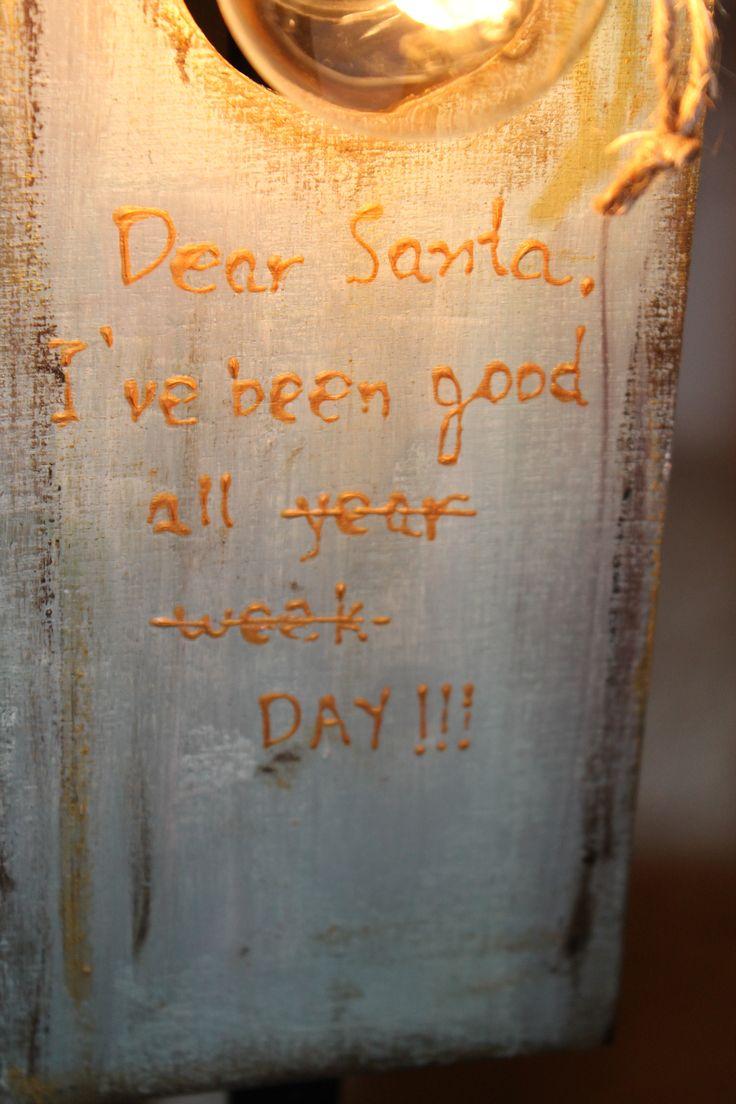 be good or i ll text Santa..
