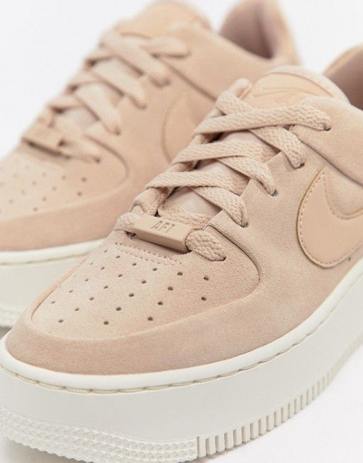 pretty nice cb94d cc5d7 Nike   Nike Pink Air Force 1 Sage Sneakers