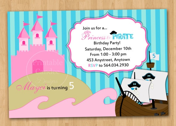 115 best My little princess Sofia princess and pirates birthday – Princess and Pirate Birthday Invitations