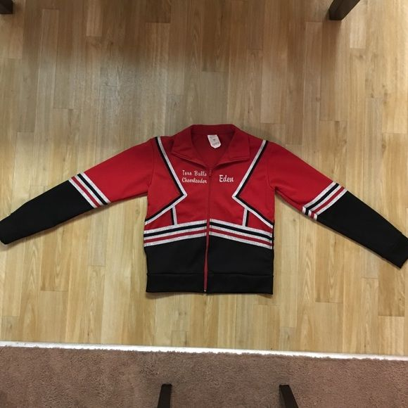 Authentic Cheer Jacket This cheer jacket has pockets and zip closure & long sleeves! Very warm & superior quality authentic cheer uniform jacket! Youth size Large Cheerdeals Jackets & Coats