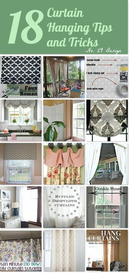 18 Curtain Hanging Tips and Tricks