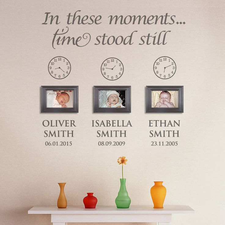 Recreate this beautiful Personalised Wall Feature in your own home...<strong>Application</strong> : Simply follow the included instructions, peel the sticker, place it onto the wall, push it down, then remove the top layer and you're done - It will look as though it's been professionally painted on and it will last a virtual lifetime when applied indoors. * Clocks - We do supply the option to purchase vinyl wall clocks that you can stick to the wall yourself. These are supplied with…