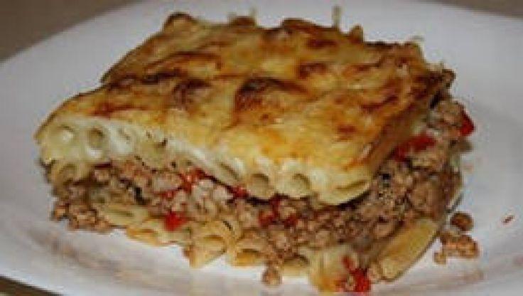 Пирог из макарон с мясным фаршем