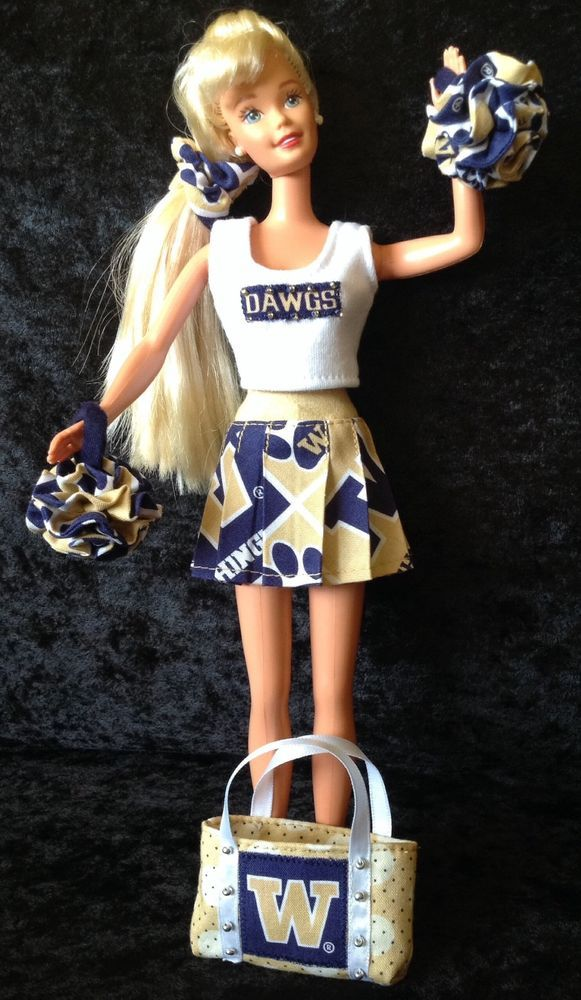 UW BARBIE CHEERLEADER UNIFORM University Of Washington Huskies USA MADE football