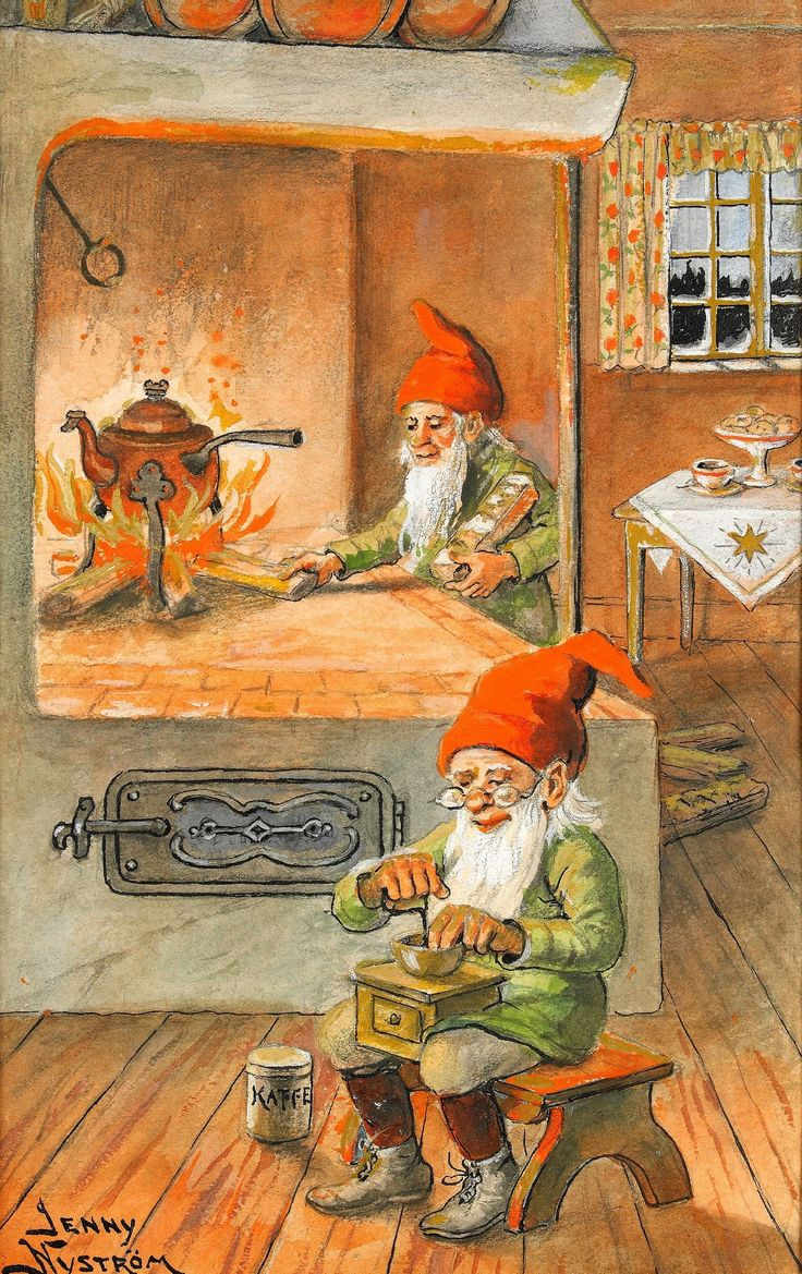 Gnomes invented table clothes. Before they used them, people ate on benches, window sills, the floor, the cow's back, the dog's head, it was just an awful mess. But after the table cloth, now everyone knows. Thank you witty ones.