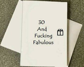 30th Birthday Card30th Him30th Party Card30 And Fucking FabulousBest Friend 30th30th Ideas30th HerWife