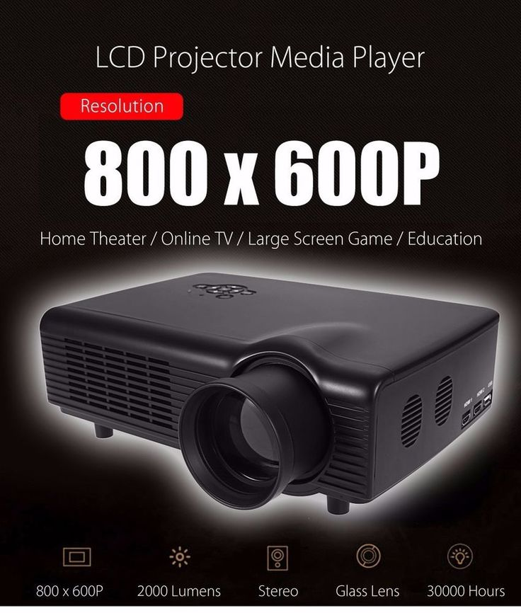 Co680 LCD Projector Media Player 2000 Lumens Home Office Education - AU PLUG #Lumens
