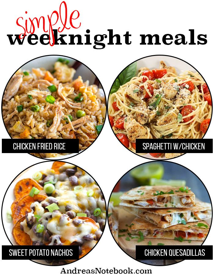 Simple Weeknight Meals Everything Is Already In Your Pantry Meals Weeknight Meals