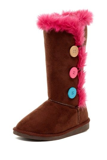 Colorful Button Boots for Girls.
