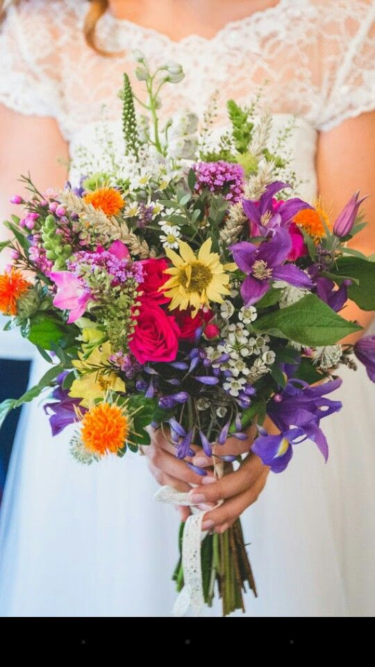 My stunning bright multicoloured bouquet