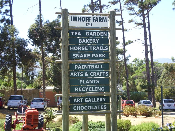Entrance Sign for Imhoff Farm, Kommetjie, South Africa