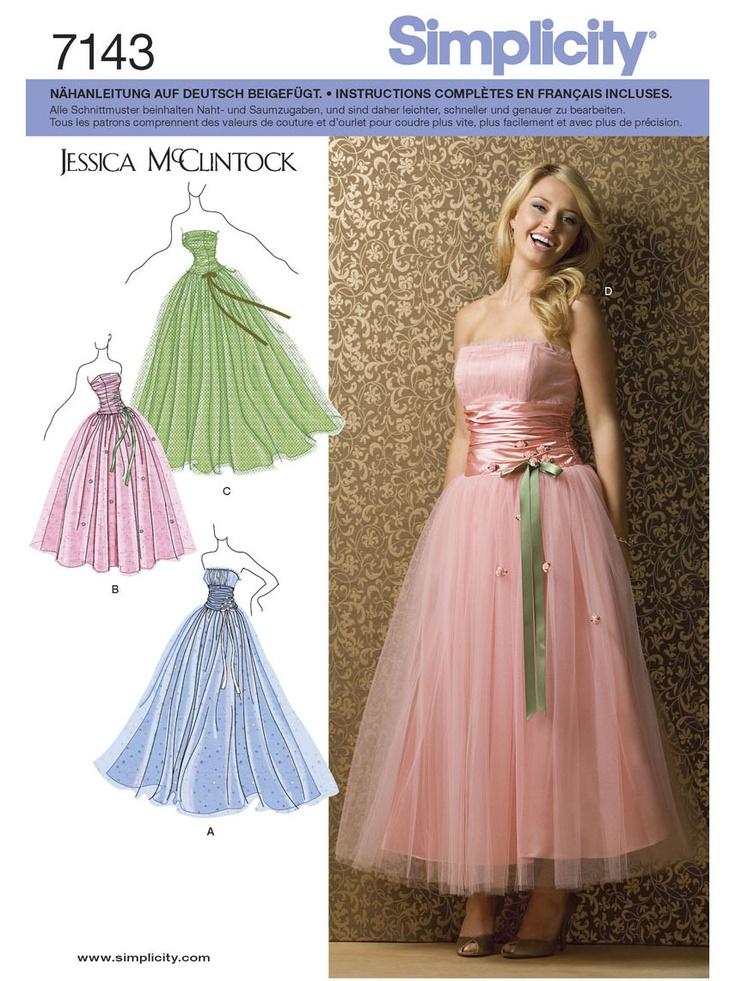 Berühmt Prom Kleid Muster Zu Nähen Bilder - Brautkleider Ideen ...