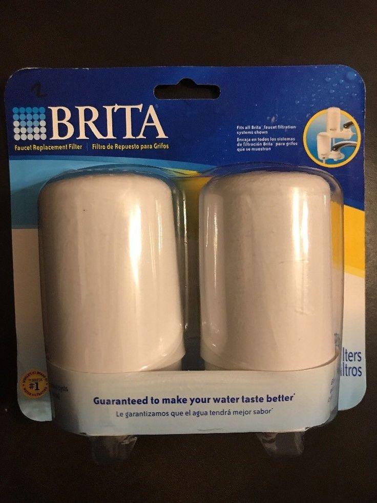 2 Brita White Brita On Tap Faucet Replacement Filter #Brita