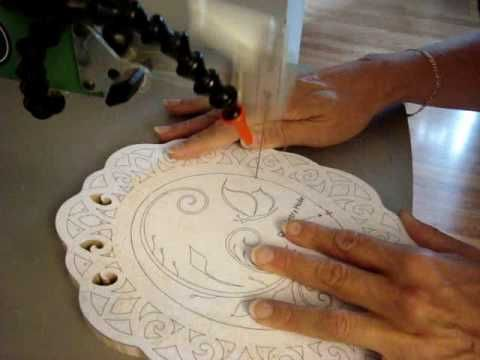 Lesson 9 - Cutting a Bevel on the Scroll Saw.YouTube  This video show some great scroll saw techniques!  #scrollsaw #diydecorations