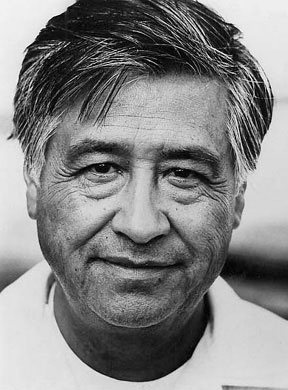 Cesar Chavez...Mexican Immigrant To California, Chavez Founded and Led the American Farm Workers' Union...Chavez Spent His Lifetime Working For the Fair Pay & Good Working Conditions For All Peoples In This Nation...He Died A Hero To Millions & An Inspiration To The Downtrodden & the Famous & Powerful, As Well...We Shall Not See His Likes Again Soon, I Fear...Bless You, Sir...