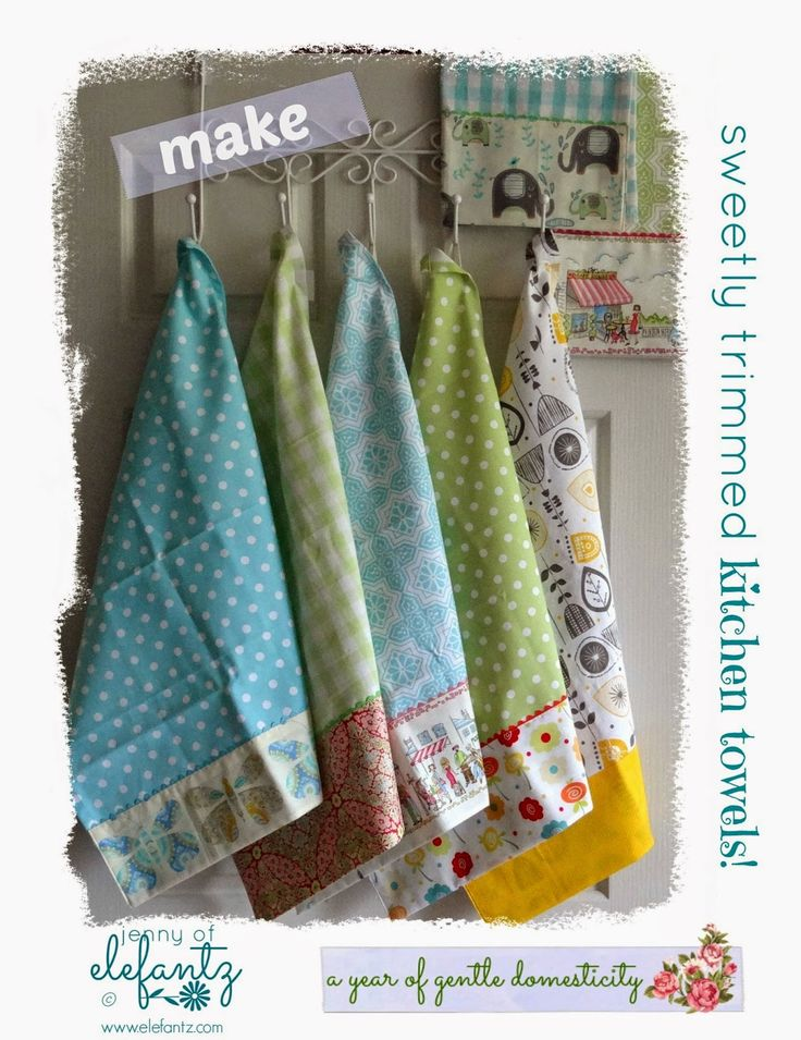 Tutorial: sweet kitchen towels...