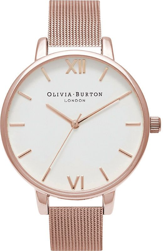 Olivia Burton OB15BD79 rose gold-plated watch