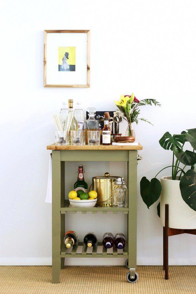 Ikea Kitchen Bar Cart Hack Popsugar Home Barcartdecorating