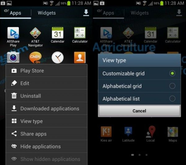 how to add apps to folder samsung galaxy s4