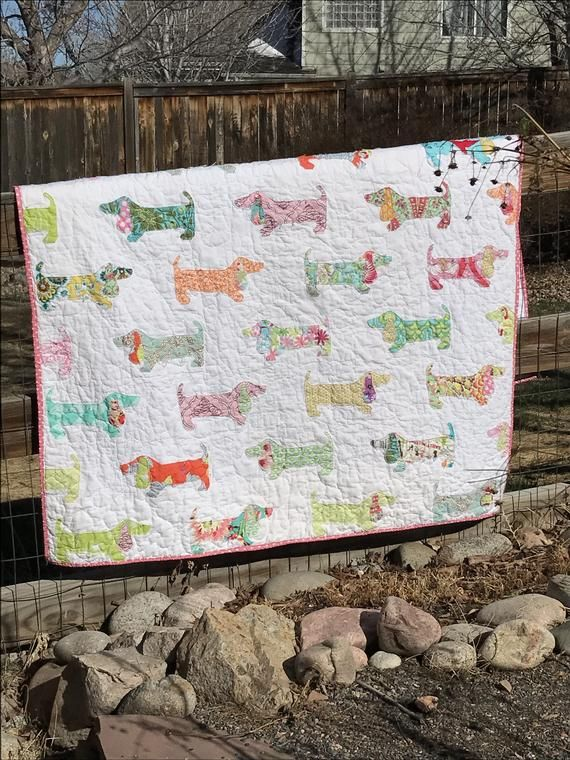Puppies On Parade Quilt Instant Download Dog Quilt Pdf Pattern