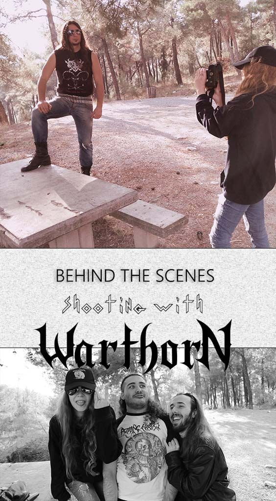 Behind the scenes of a heavy metal photoshoot with warthorn