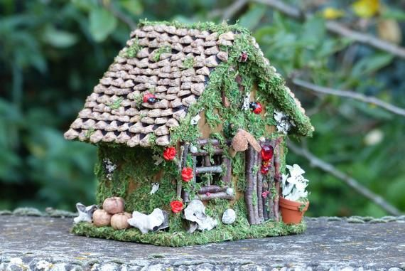 Pixie Fee Haus Fee Garten Fee Miniatur Lichterkette Nite Licht Faery Haus Fee Geschenk Decor Outdoor Decor Bird House