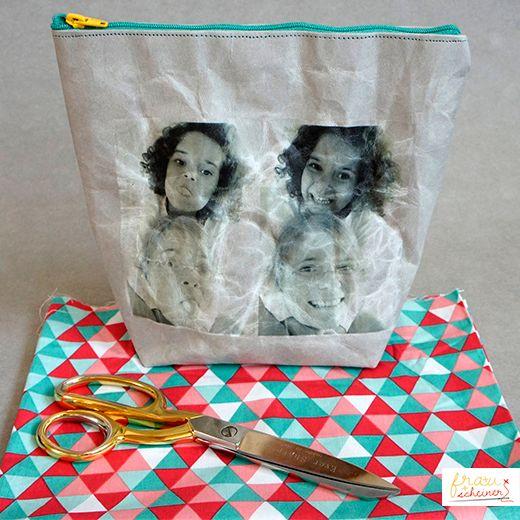 Bügelfolie ist eine geniale Möglichkeit Fotos und Grafiken auf Stoff zu übertragen.