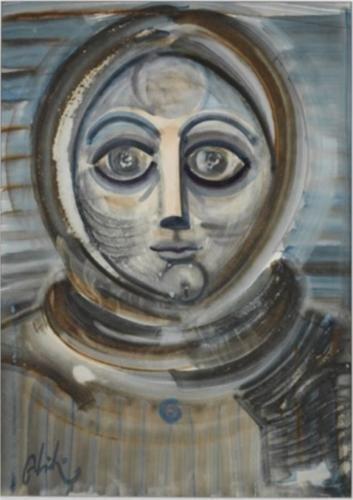Abidin Dino (1913 - 1993) | Surrealism | Portrait - 1970