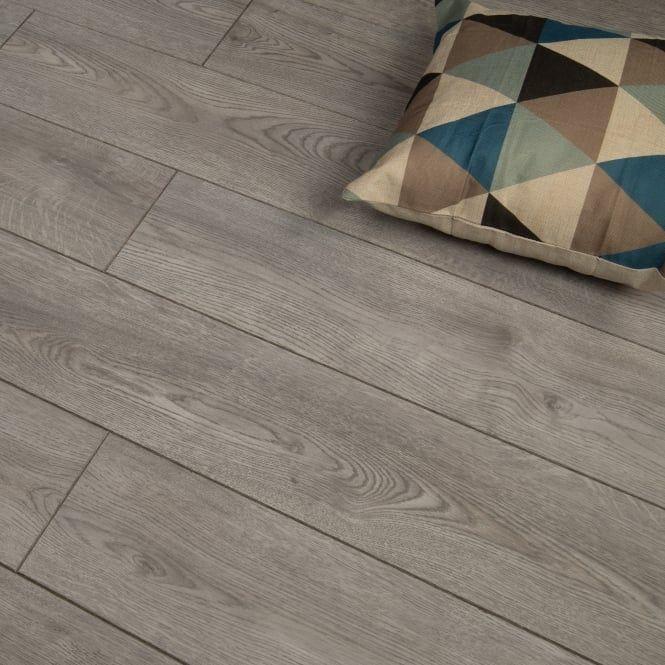 Premier Select 8mm Laminate Flooring Modern Grey Oak In 2020 Grey Oak Laminate Flooring Laminate Installation